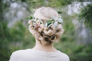 Brautfrisur-Blumen