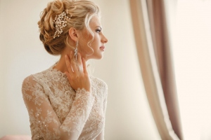 Brautfrisur-Perlen